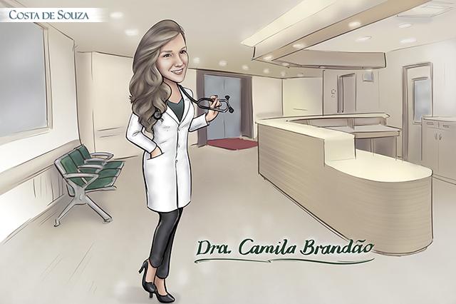 caricatura formatura medicina enfermagem