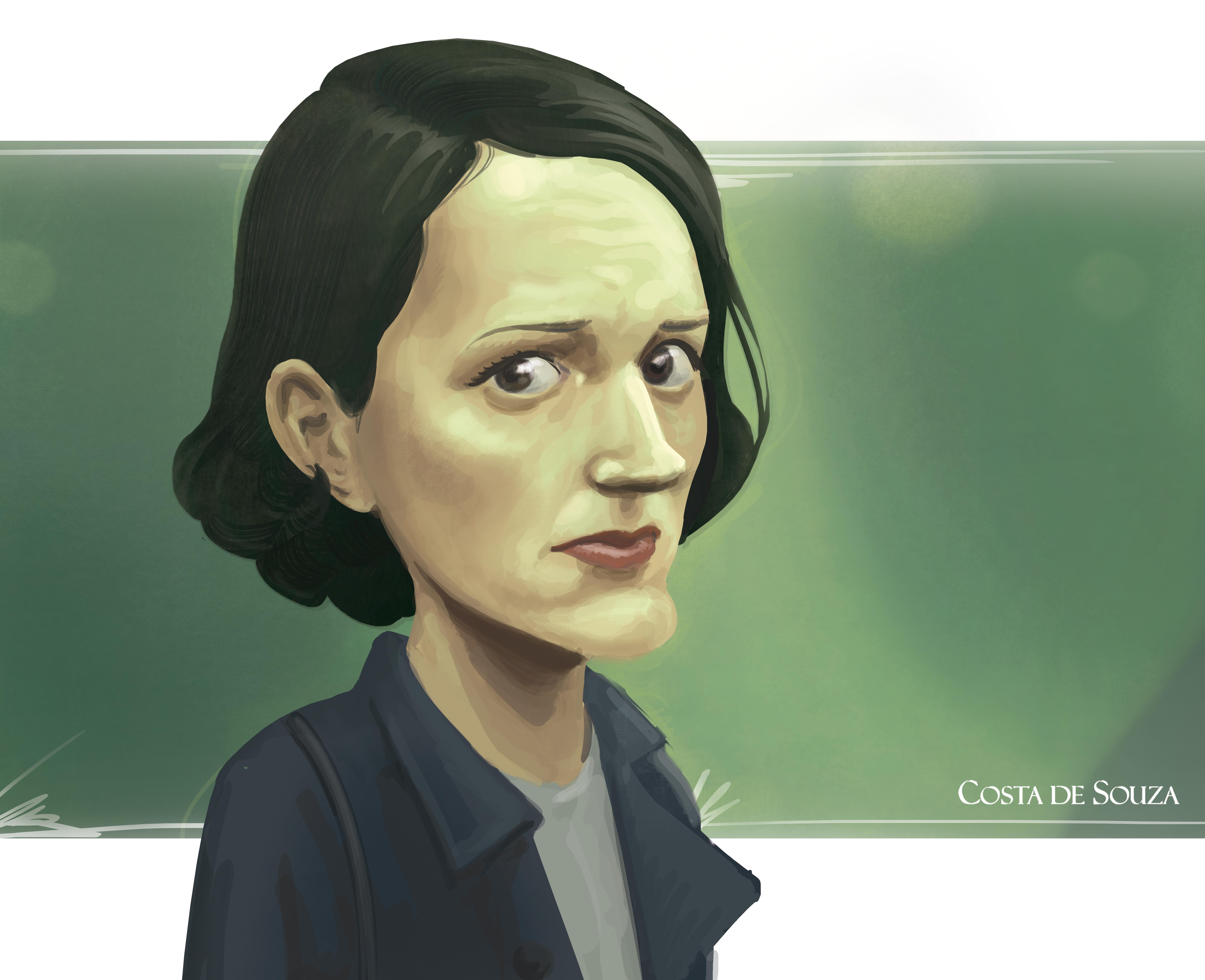 caricature Phoebe Waller Bridge Fleabag