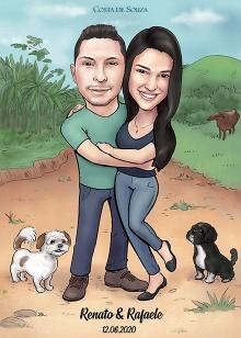 caricatura-namorados-encomenda-quadro-caricature