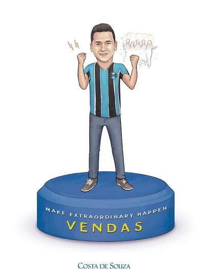 caricatura Costa de Souza grupo encomenda